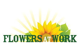 Flowers at Work logo